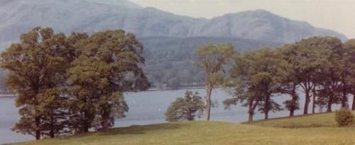 The view of Coniston Water from Bank Ground Farm in 1973