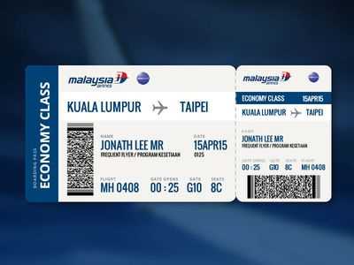 Malaysia Airlines Boarding Pass Boarding pass, Boarding