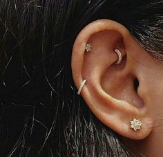 rook | auricle | helix | lobe | gold diamond jewelry aditi000