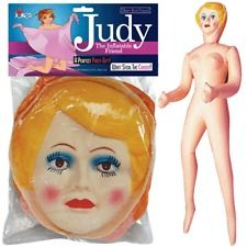 This BLOW UP DOLL GIRL FEMALE JUDY INFLATABLE BLOWUP BACHELOR PARTY GAG GIFT is available for purchase for $15.25 for another 21d 22h