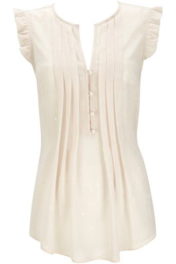 Cream Glitz Spot Blouse Top