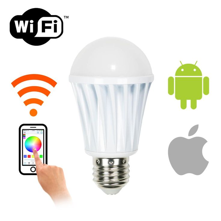 WYZworks WiFi Smart LED Dimmable Light Bulb - Andriod & iPhone iPad (iOS) Phone and Tablet App Controlled Multi-colored Color Changing Light (RGB + Warm & Cool)
