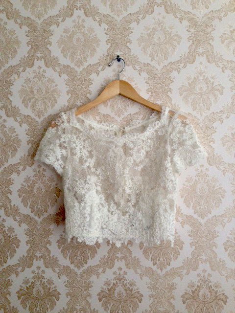 ElandraLace wedding top separate by Leanimal on Etsy