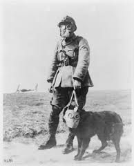 WW1 french soldier with gas mask.