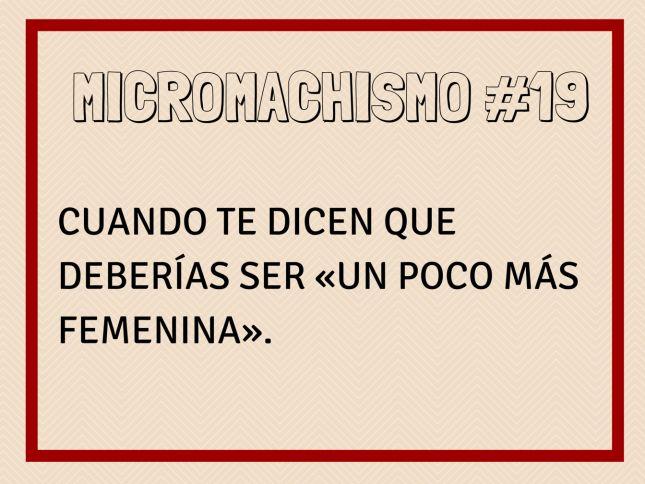 Micromachismo #19