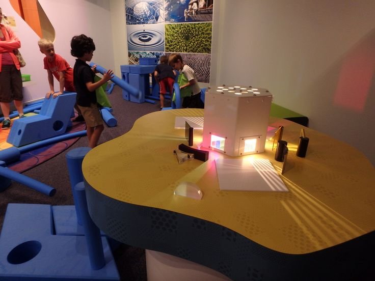 light/prism table exhibit