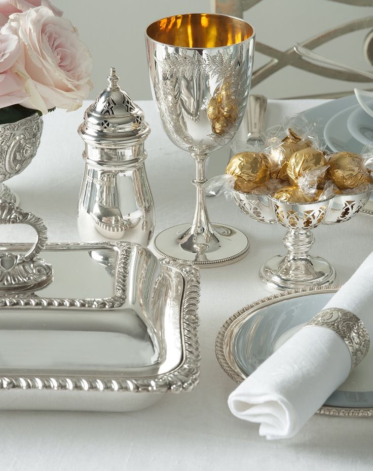 English Service Table Setting Part - 36: Room Service Via Wendy Schultz ~ Silver Service + Table Settings.