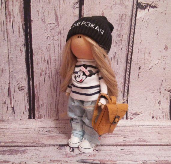 Cloth doll doll Tilda doll Art doll handmade di AnnKirillartPlace