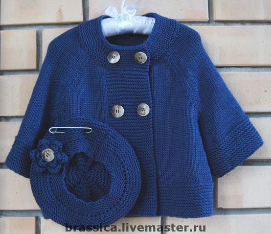 вязаная детская одежда, вязаная одежда для детей, жакет для девочки, жакет вязаный