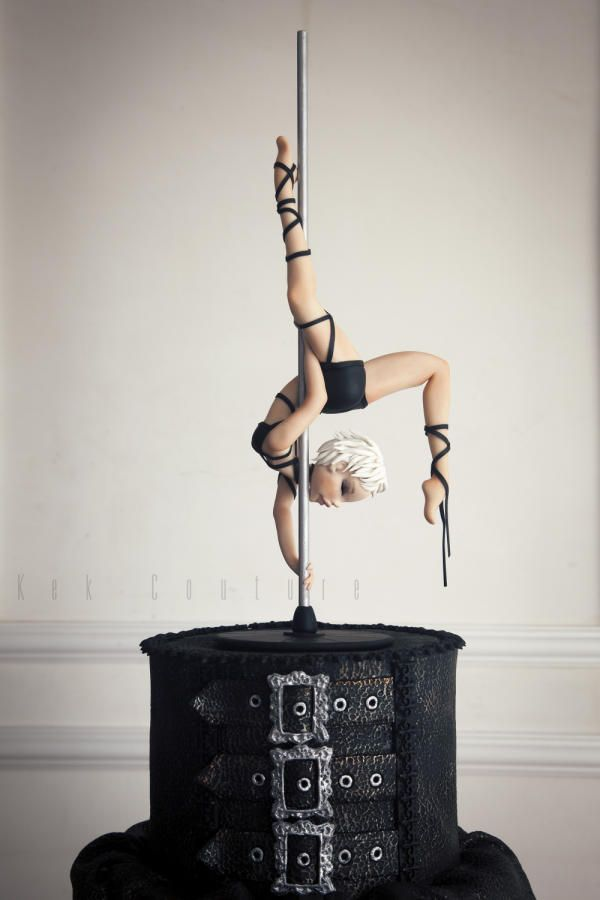 Pole Dancer - Cake by Kek Couture~~well you certainly can't say THAT'S not a creative cake