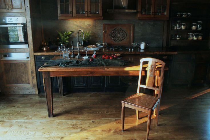 Table, Kitchen Table, Kitchen, Wooden Table, Woodworking, Polish woodworking www.drewnoikamien.pl