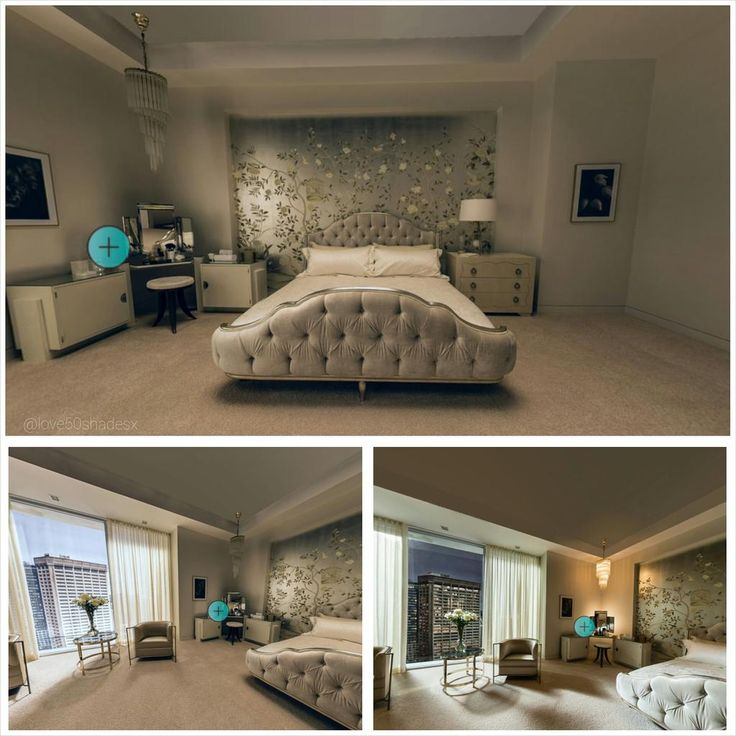 Ana's bedroom at escala https://www.pinterest.com/lilyslibrary/ #FiftyShades