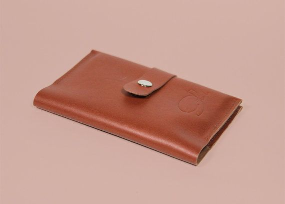 """Leather Passport Cover """"Pablo"""" in various colors, Genuine Leather Passport Holder, Handmade Passport Case, Travel Wallet, Card Holder"""
