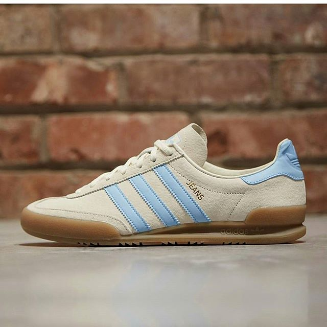 adidas Originals JEANS - Trainers - footwear white/collegiate green/core brown