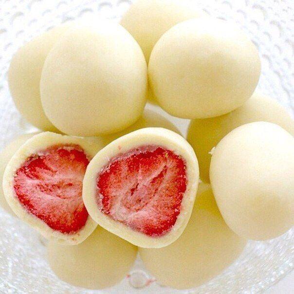 Strawberry in yogurt -Super delicious dessert fitness