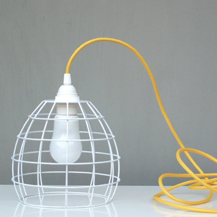102 best diy wire ideas images on pinterest lampshades lamp white wire lampshade white wire light shade green with envy greentooth Image collections