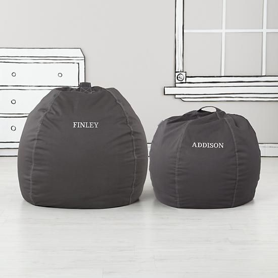 """30"""" Cool Beans! Bean Bags (Grey)    The Land of Nod"""