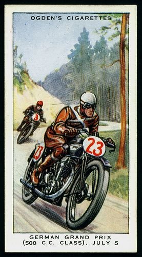 Cigarette Card - German Motor Cycle Grand Prix (500cc) 1931   Flickr - Photo Sharing!