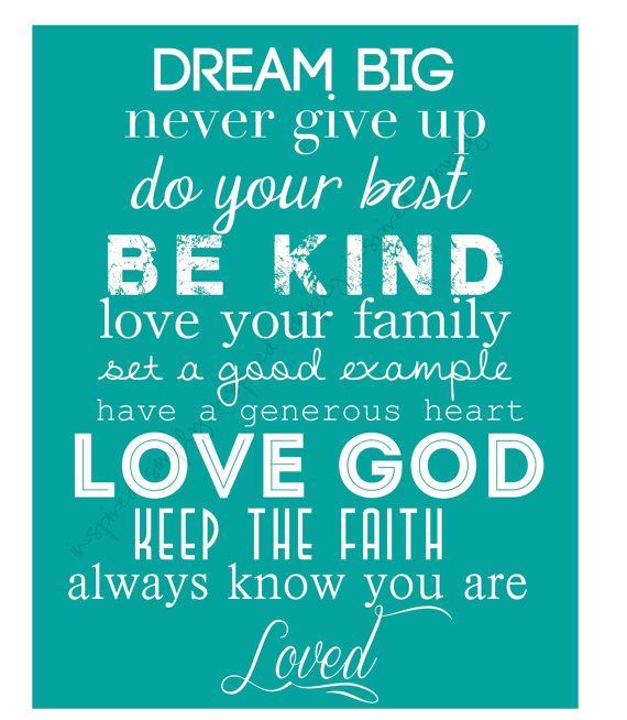 Printable Wall Art for Your Home  DREAM BIG  just put in my kitchen