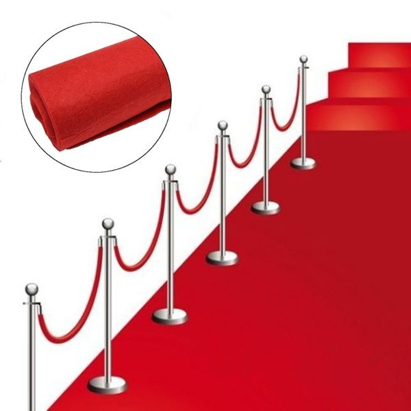 1 2x15m Large Red Carpet Wedding Aisle Floor Runners Hollywood Award Party Decorations Celebration Exhibition Supplies Birthday Prop Wish In 2020 Outdoor Party Decorations Red Carpet Wedding Hollywood Party Decorations