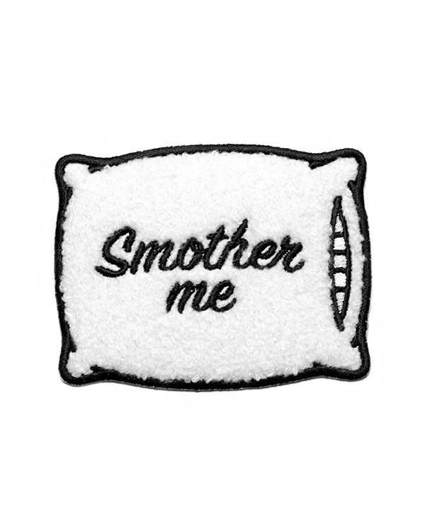 """Put me out of my misery.Embroidered patch w/ fuzzy chenille baseCustom, heat-cut edgeIron-on backingMade in the USAMeasurements: 3.75"""" X 2.75""""ByMean Folk"""