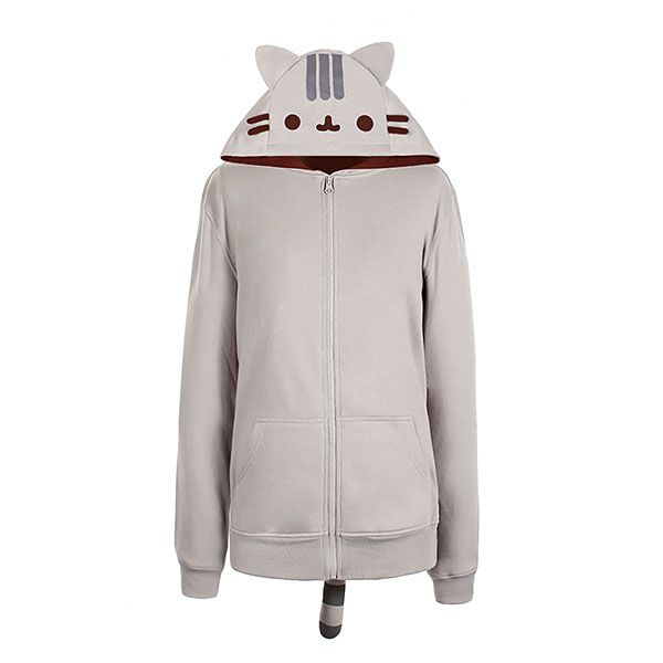 Purr. Purr. Rub. Rub.  If you're a fan of Pusheen the Cat, you'll enjoy being wrapped up in warm, Pusheen softness with this Pusheen Hoodie. It's everything you need to grab life by the tail. (Just don't pull.)