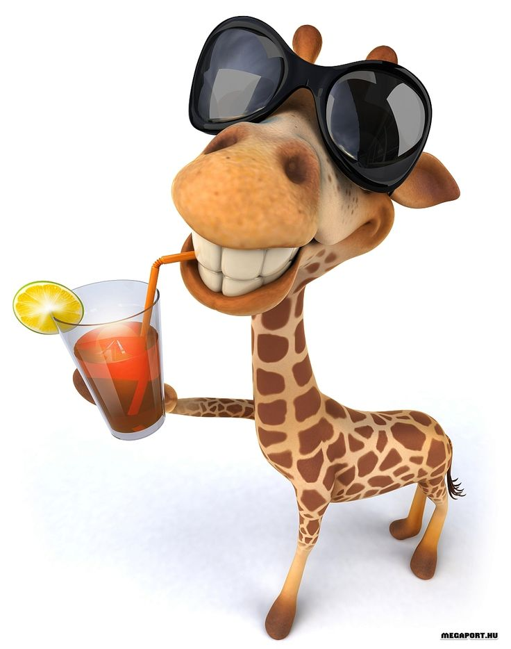 Картинки, рисунок прикольный жирафа