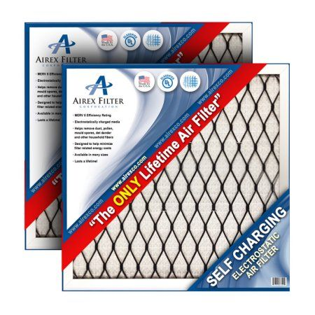 14x24x1 Lifetime Electrostatic AC Furnace Air Filter. Washable. Never Buy another Filter Again