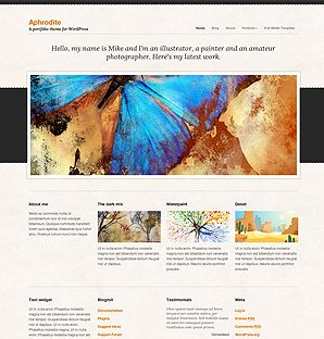 Aphrodite Portfolio theme for WordPress