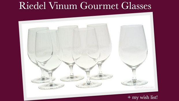 Riedel Short Stem Wine Glasses - love that these wine glasses fit in the dishwasher yet still have a stem to twirl!!!