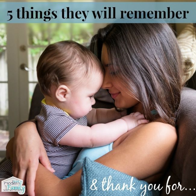 5 things that your children will remember and be thankful for…