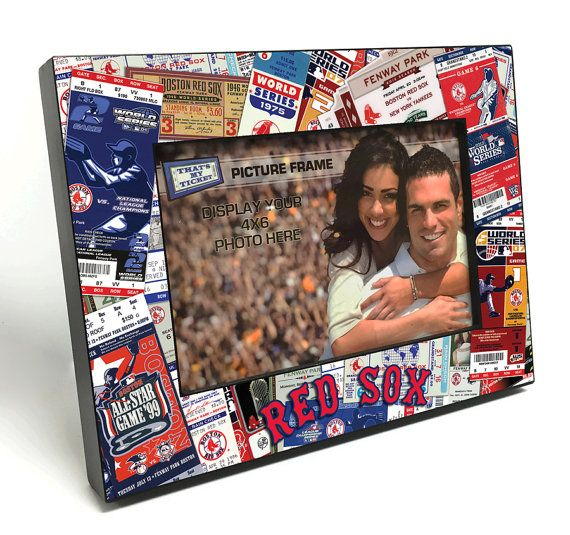 Boston Red Sox Ticket Collage Wooden 4x6 inch Picture Frame - Officially Licensed by MLB