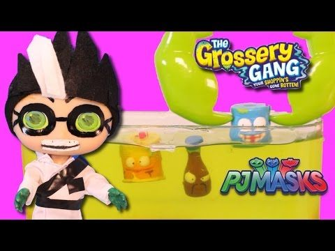Grossery Gang in PJ Masks Romeo's Slime Lab Toys with The Grossery Gang Opening - YouTube