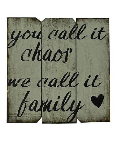 Look at this #zulilyfind! Black & White 'We Call It Family' Wall Art #zulilyfinds