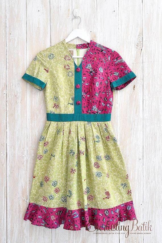 EVERLASTING BATIK   D.0002 Batik dress -M
