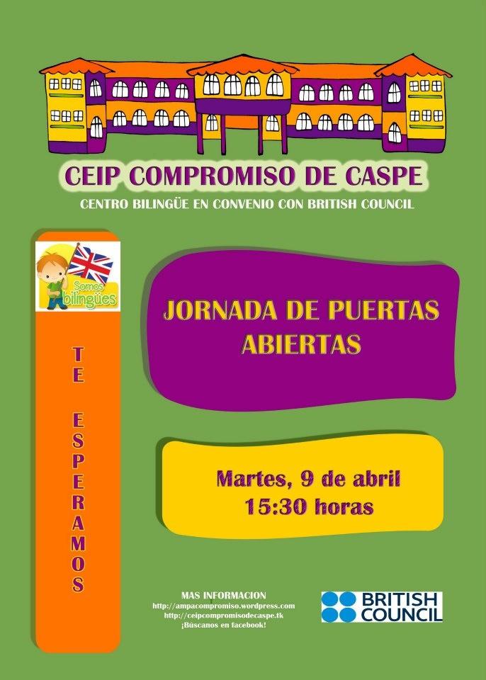 Jornada de puertas abiertas del CEIP Compromiso de Caspe