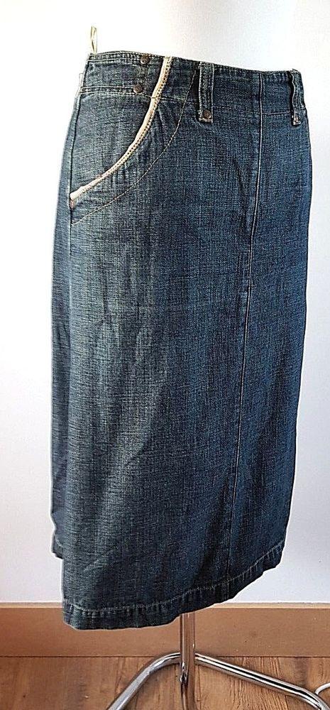bafbadfc5bfe2 White Stuff WS Denim Troupe A Line Denim Skirt Medium Wash 100% cotton UK  12  fashion  clothing  shoes  accessories  womensclothing  skirts (ebay  link)
