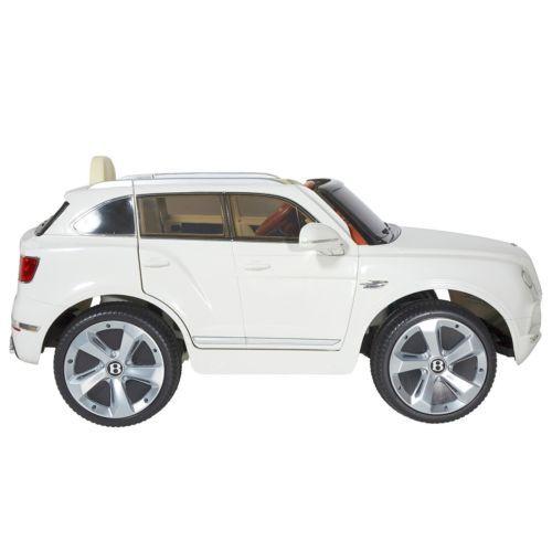 electric car for kids 6v battery white bentley suv vehicle backyard fun