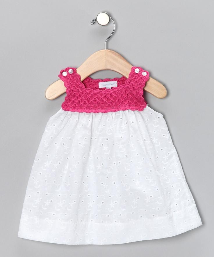 Pink & White Dress -Hug Me First