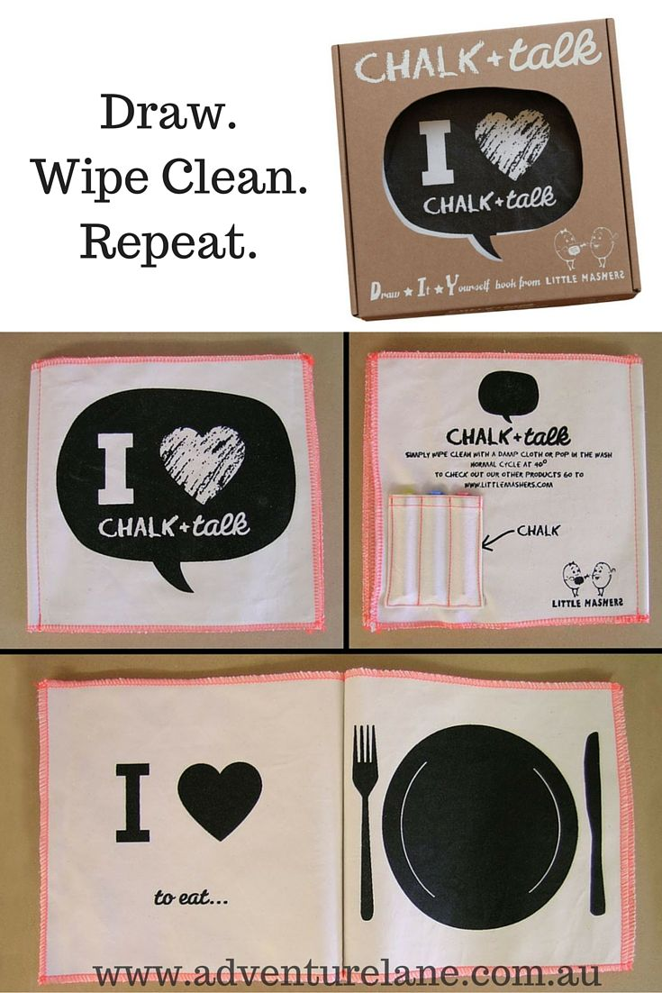 Need to keep the kids entertained during the holidays? Check out these awesome chalkboard books - they can be drawn in again and again!