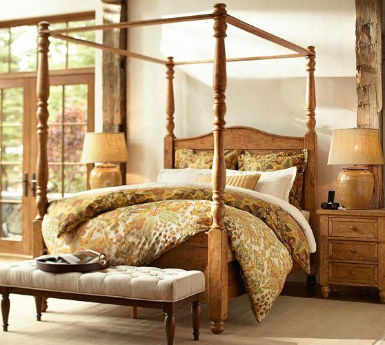 Cortona Canopy Bed Dresser Set Pottery Barn Decor Pinterest Duv