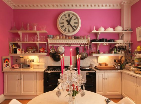 A Room Of My Own: Sophie Conran's Pink Kitchen - The Chromologist