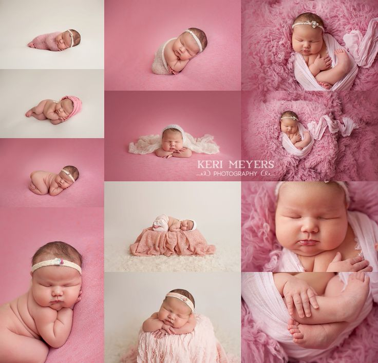 Pink themed newborn girl session newborn posing ideas newborn posing tutorials newborn photography