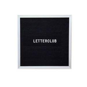 Letterclub Black Square Message Board