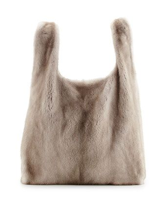 Mink Fur Satchel with Pull-Through Straps, Brown by Brunello Cucinelli at Bergdorf Goodman.6395$