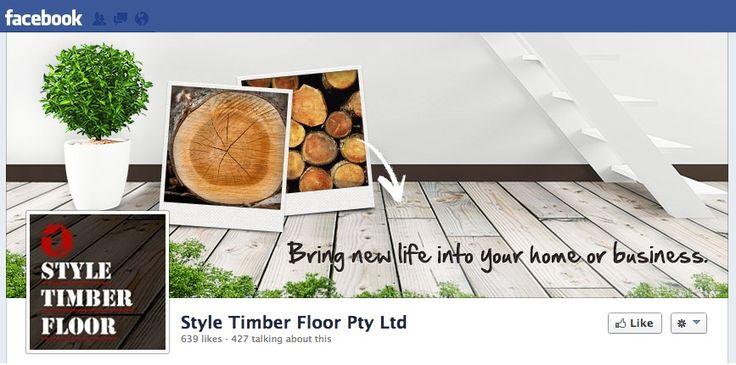 Style Timber Floor #Facebook #CoverImage #Design. #SocialMedia