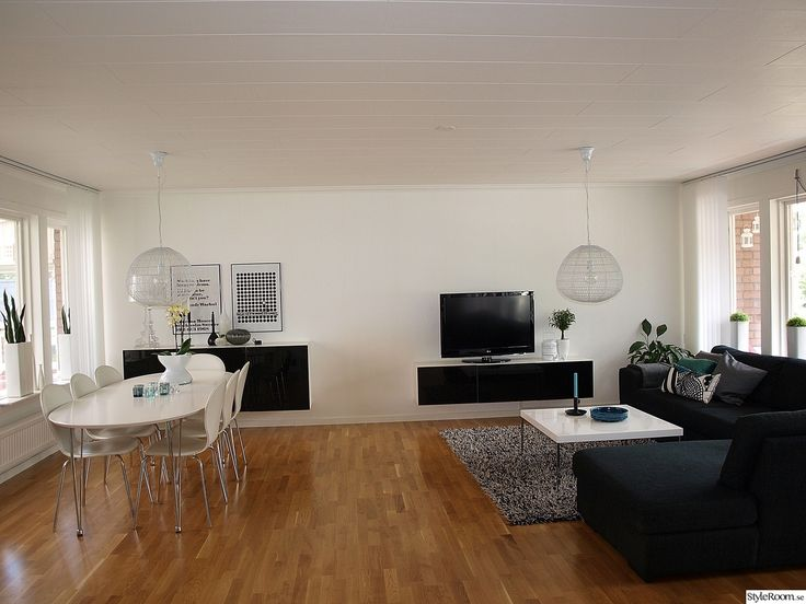 ittala,bestå,svartvitt,vitt,svart,matplats,soffa,öppenplanlösning