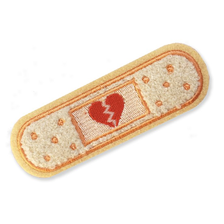 Mend your broken heart with this fuzzy chenille sticker patch. The backing of this cutie is already sticky, so no sewing or ironing is required... Making it perfect to stick on just about anything! -