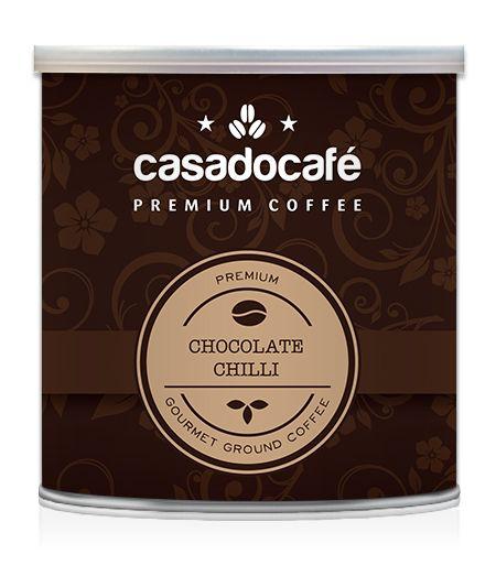 Café Chocolate Chilli Moído Gourmet   Lata de 250 grs 35 Cafés  Preço de Cada Café : 0.40€