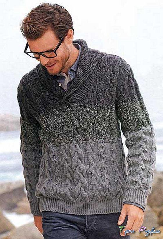 Пуловер с воротником «шалька»